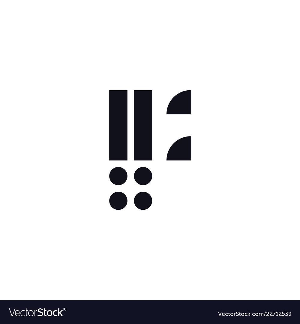Logo Letter F Black And White Royalty Free Vector Image