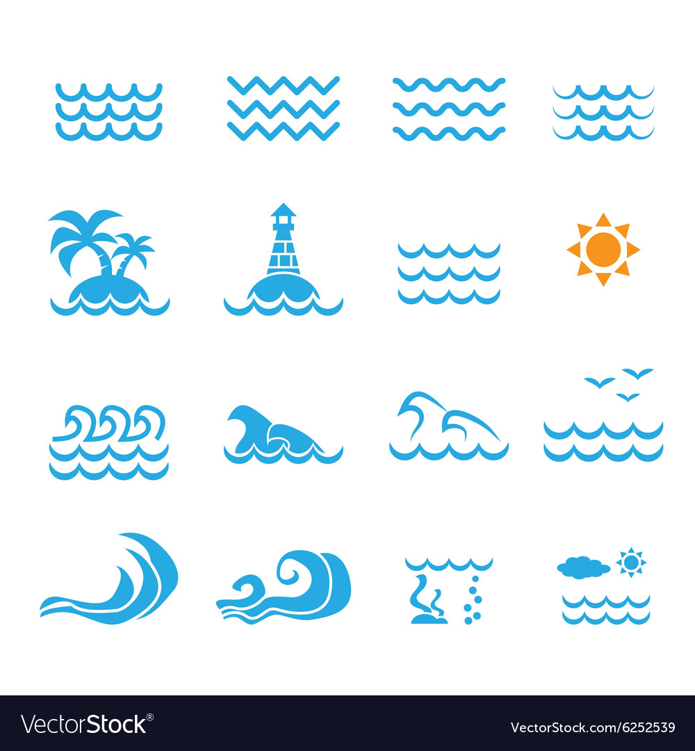 Sea icon vector image