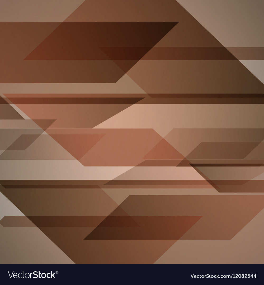 Abstract brown background with geometric shapes