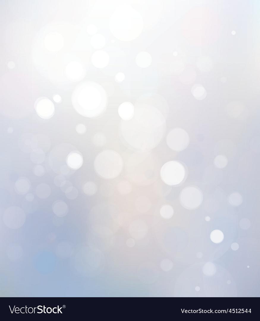 Bokeh white background vector image