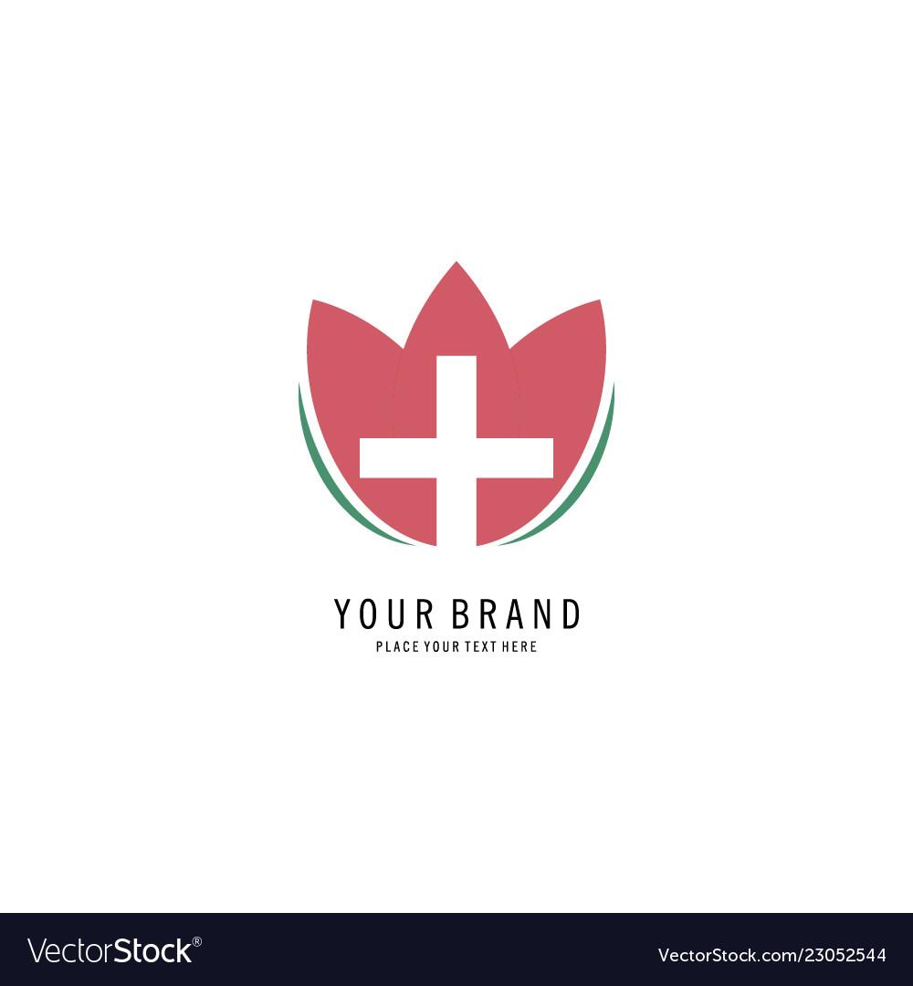 Cross flower spa logo