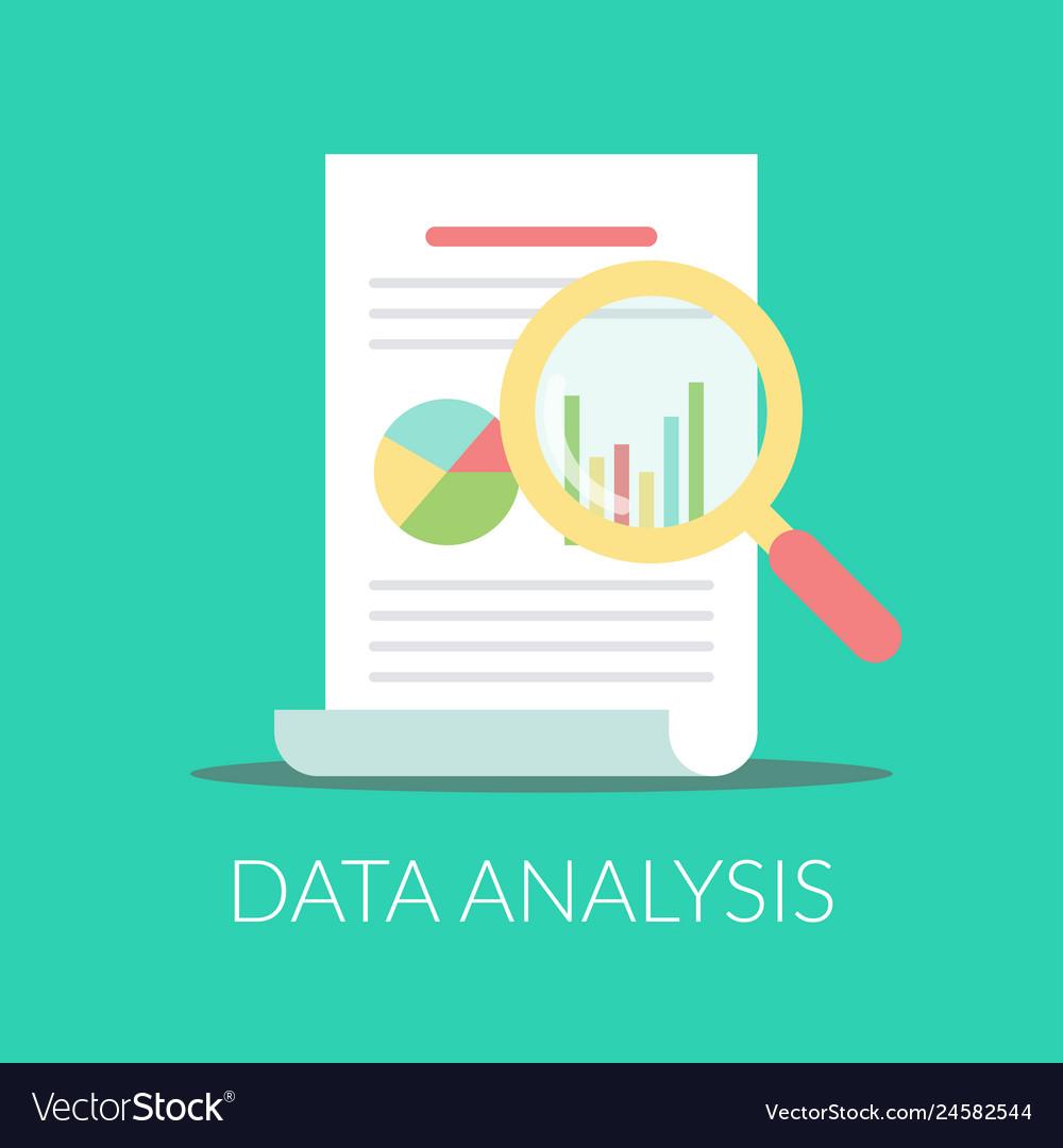 Data analysis flat icon report document