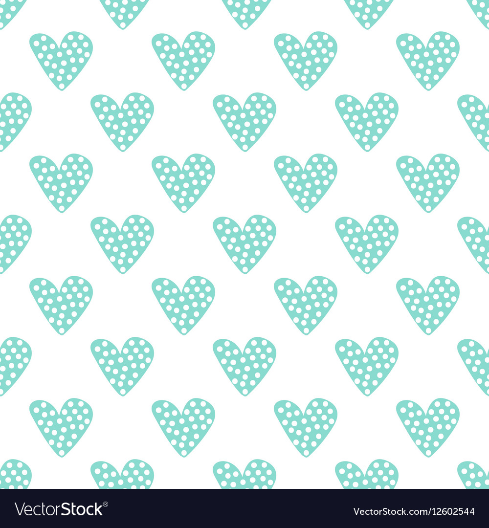Hand drawn dotted hearts seamless pattern