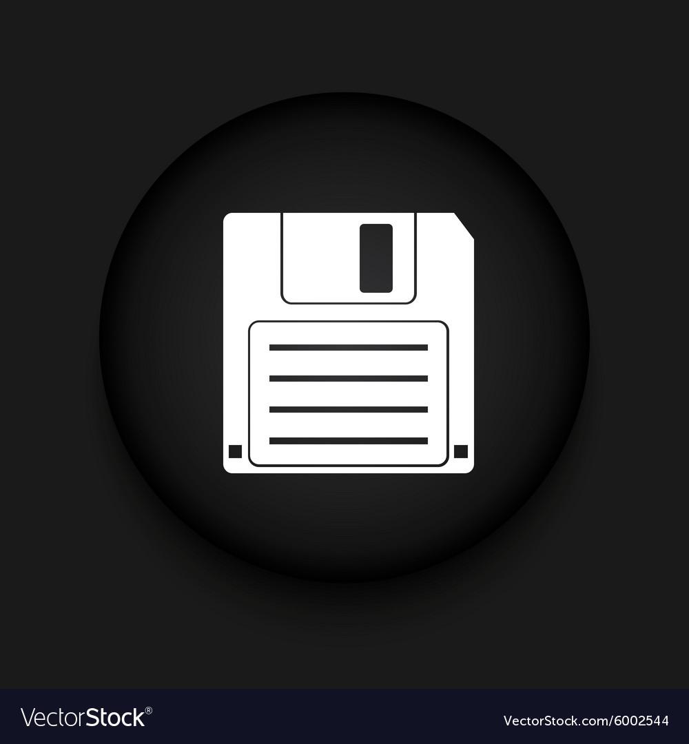 Modern diskette black circle icon