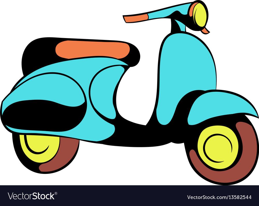 Motorcycle blue icon cartoon