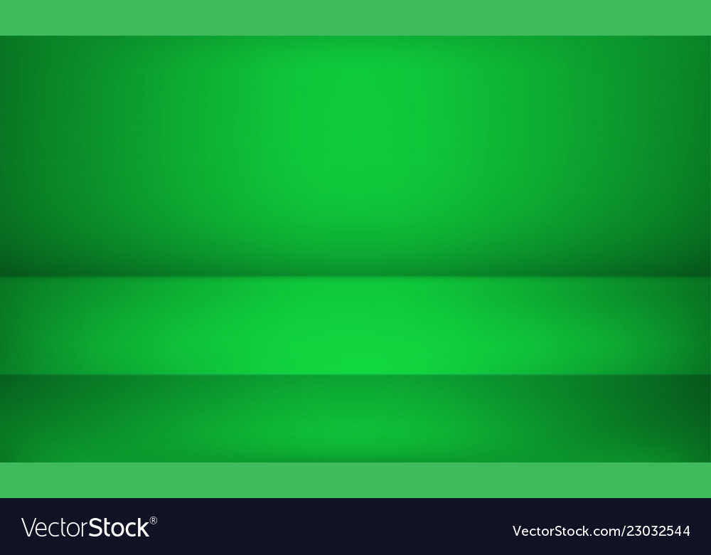 Studio green background or product table showroom