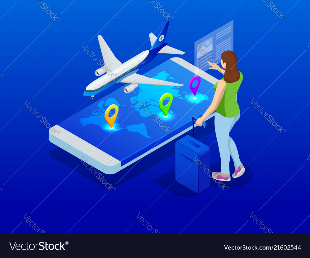 Travel and tourism background buying or booking