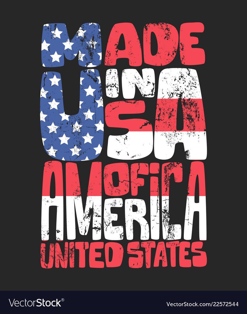 Vintage denim typography american t-shirt graphics