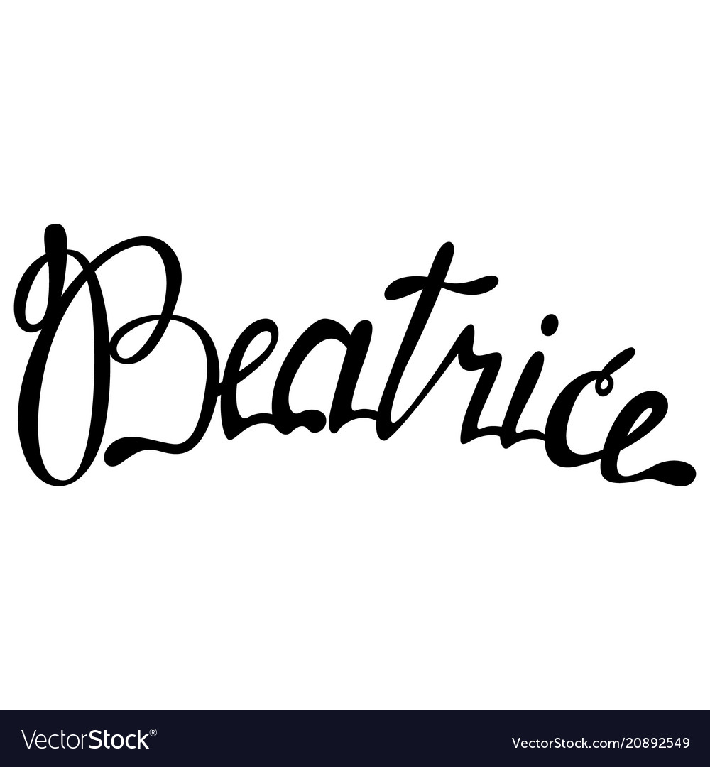 Beatrice name lettering