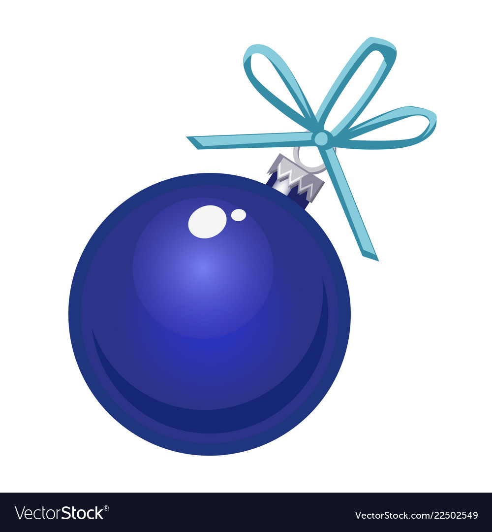 Christmas toy in the form of a blue glass ball