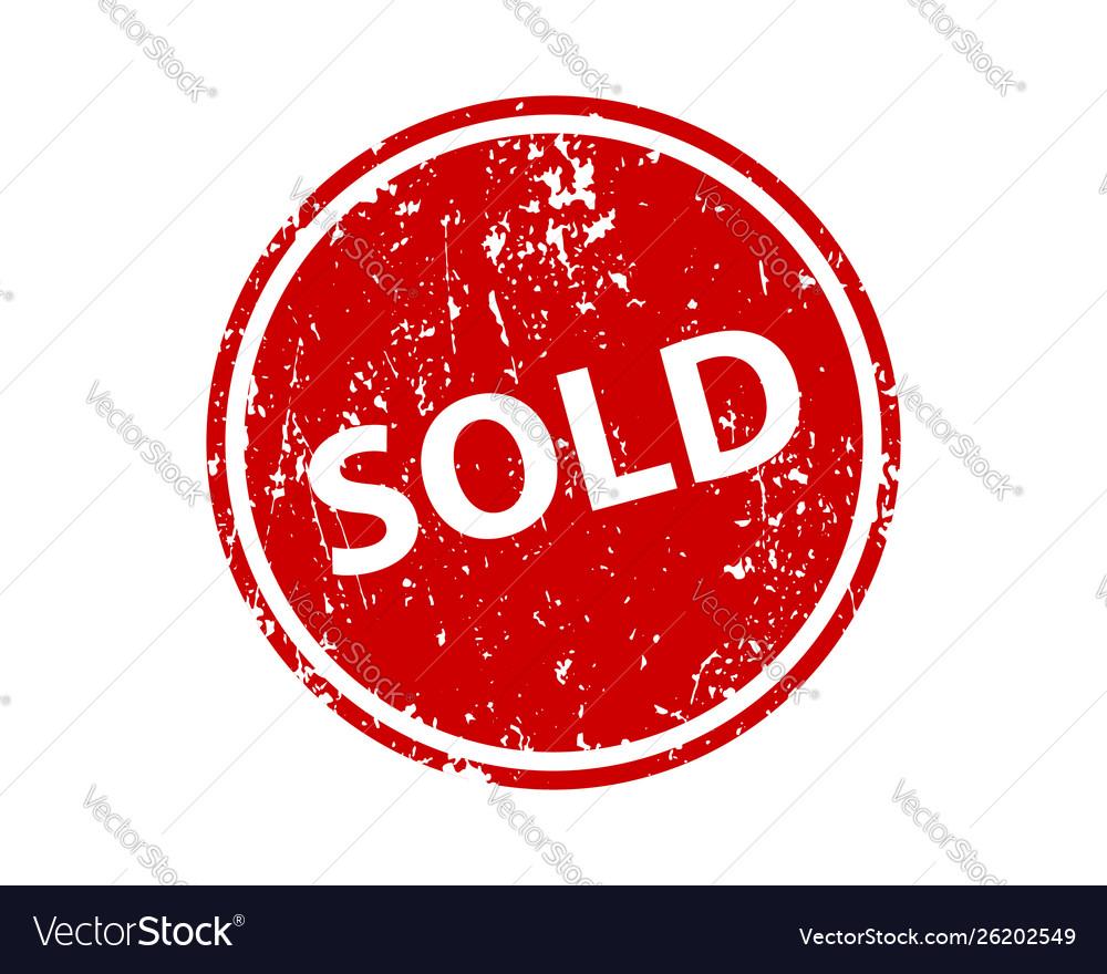 Sold sign sticker stamp texture