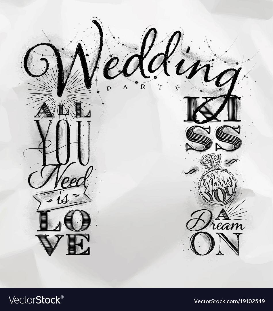 Wedding arch backdrop kiss