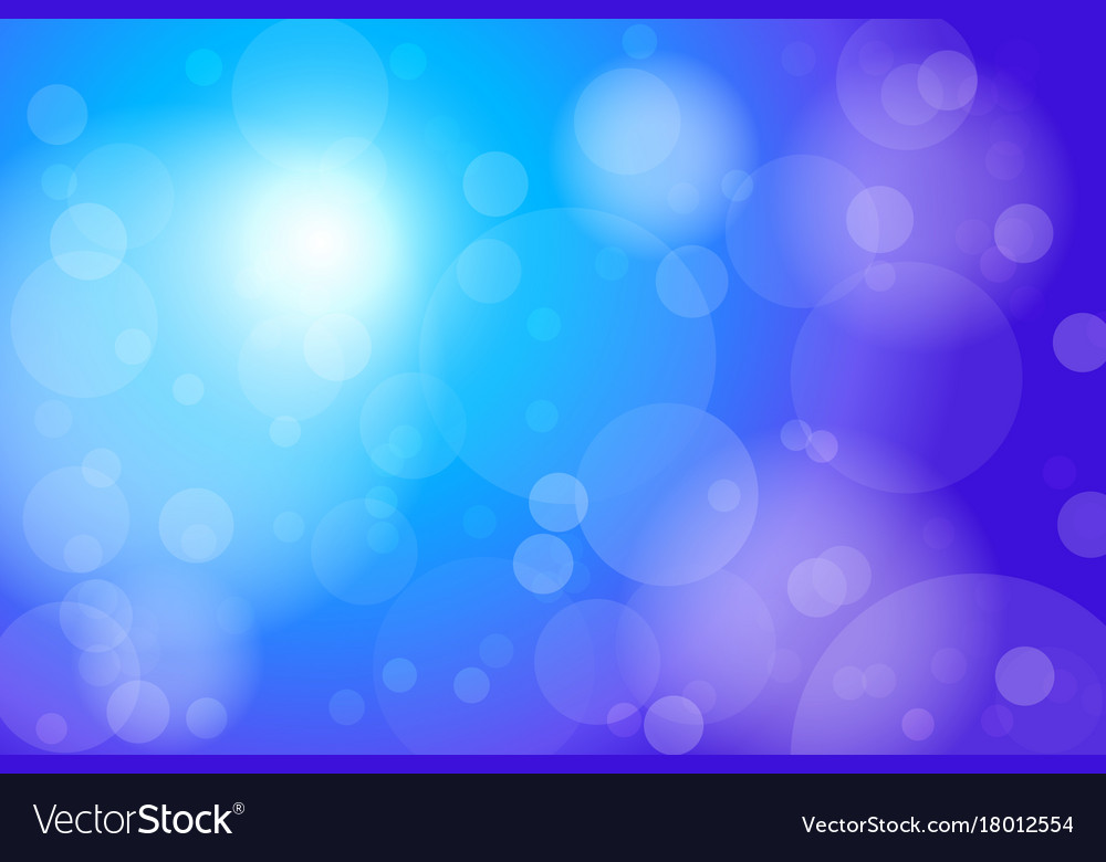 Blue bokeh abstract background vector image