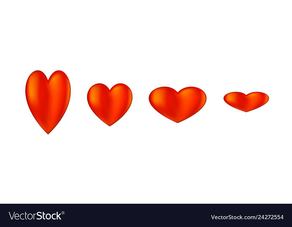 Hearts icon on white