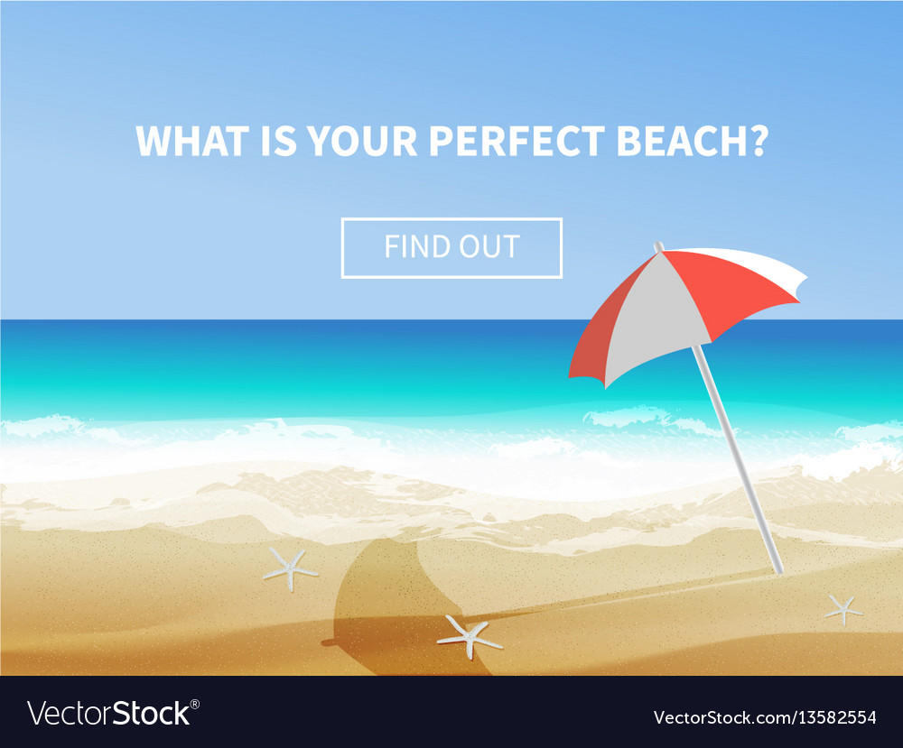 Summer seaside view vector image