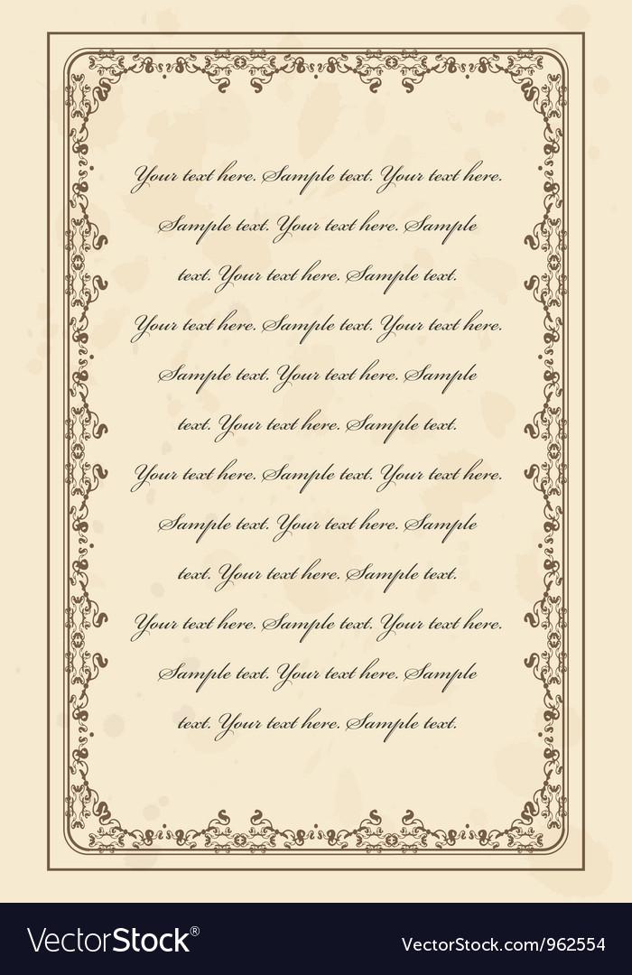 Vintage parchment frame