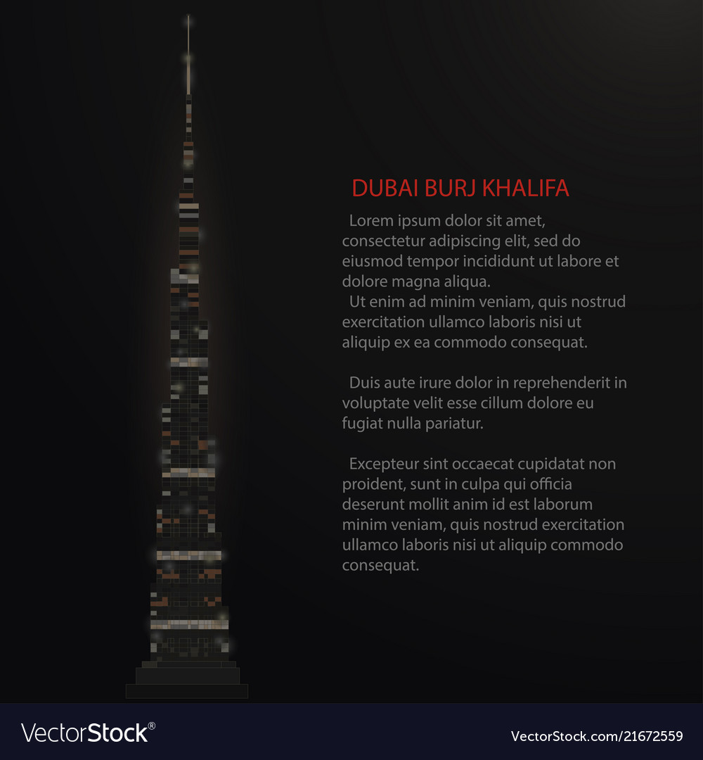 Burj khalifa tower dubai skyscraper silhouette