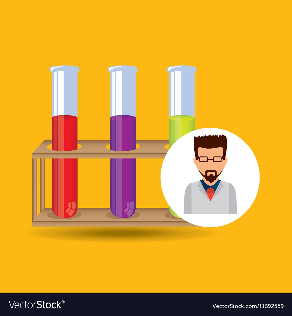 Character scientist chemistry test tube rack
