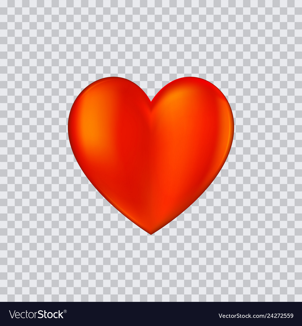 Heart icon on transparent