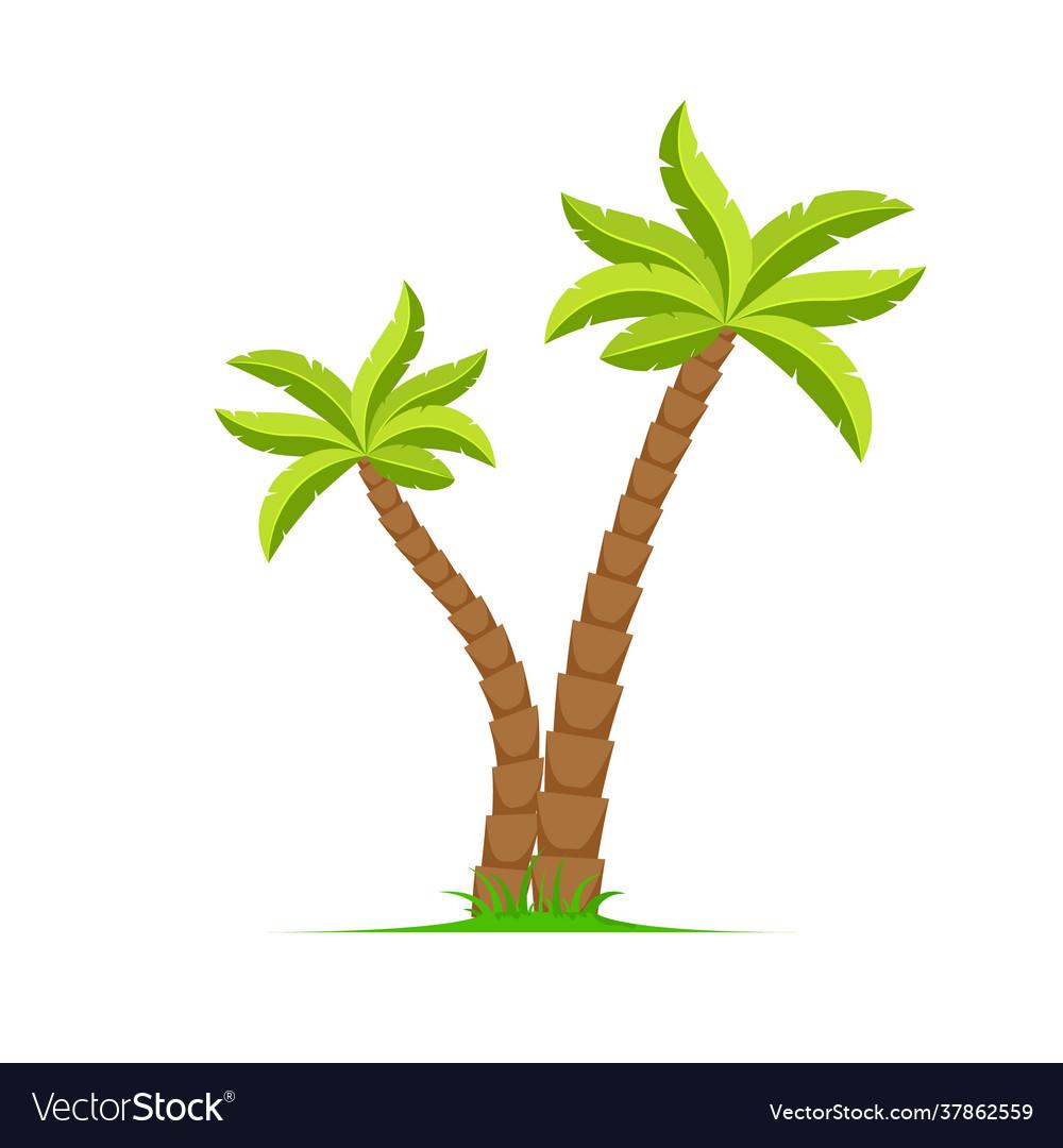 Palm tree island coconut cartoon icon