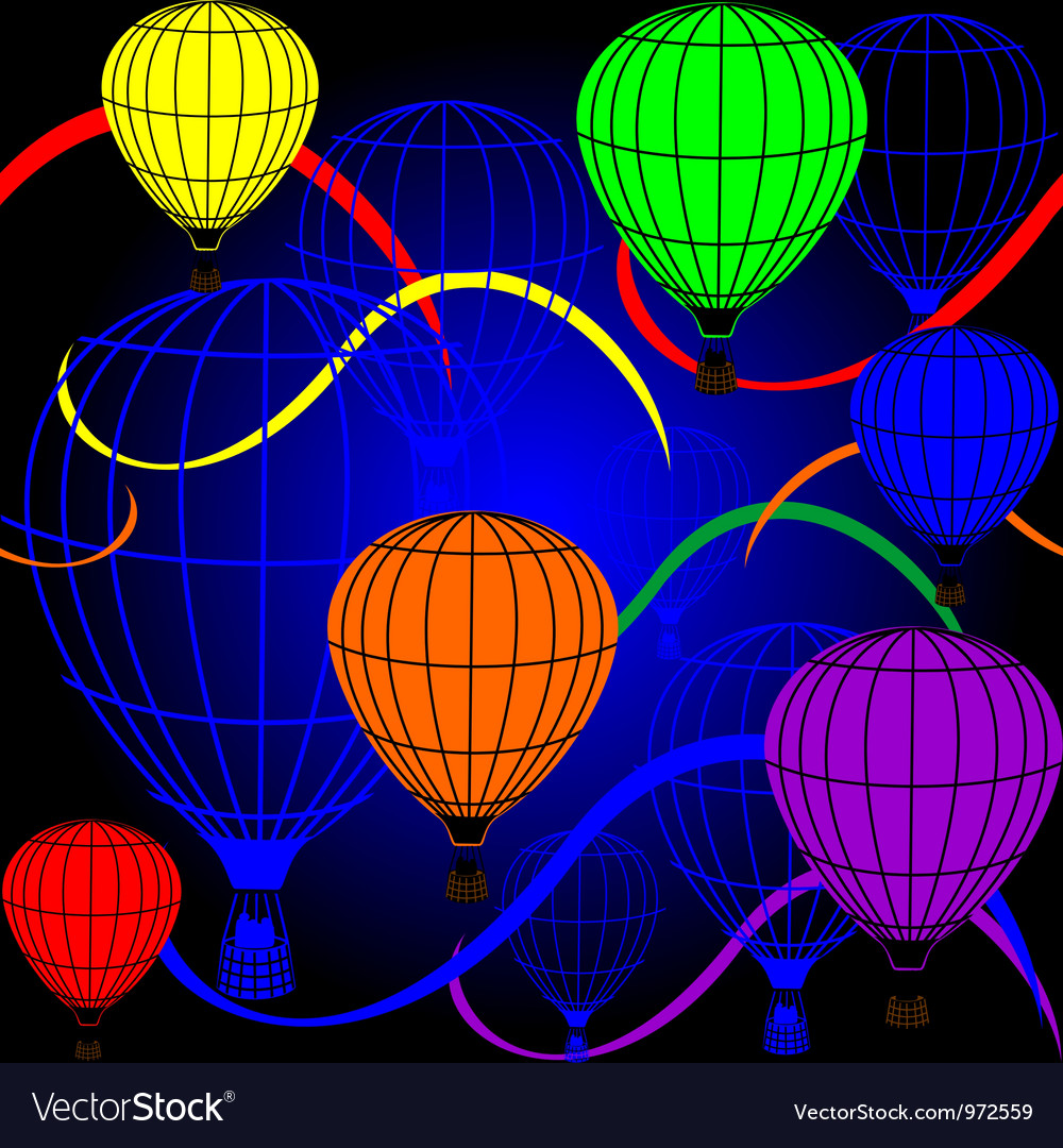 Seamless background with rainbow balloons
