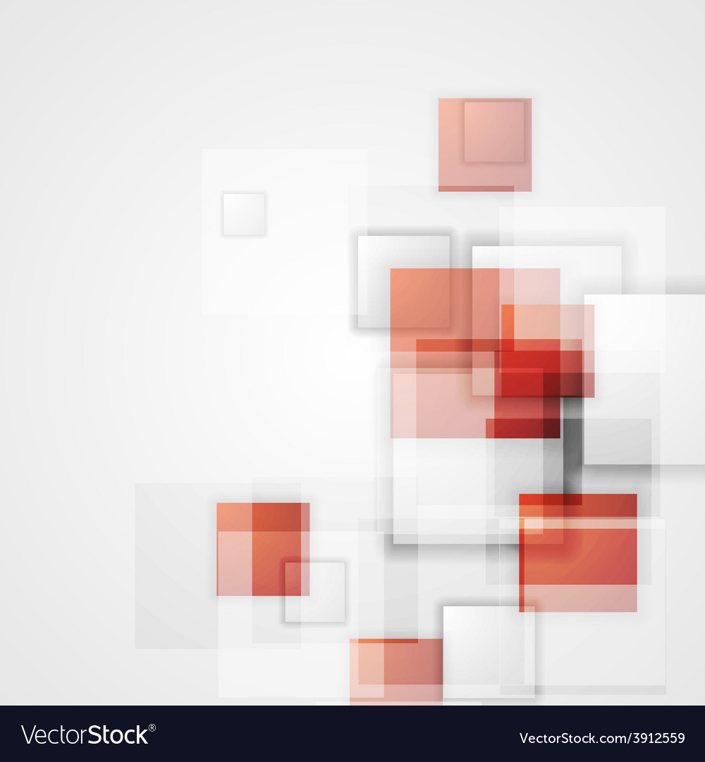 Tech background with red squares