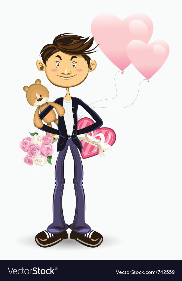 Valentine boy greeting card