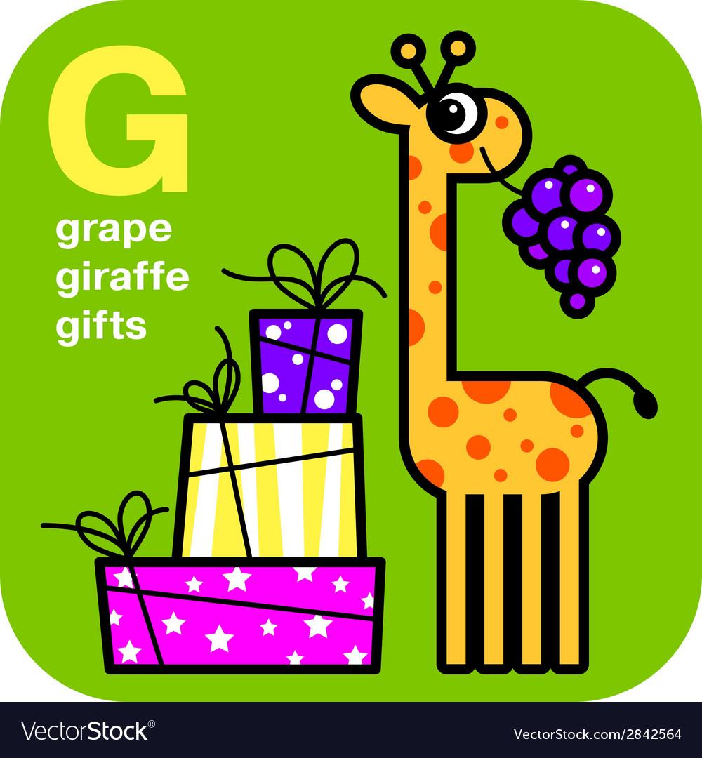 ABC grape giraffe gifts