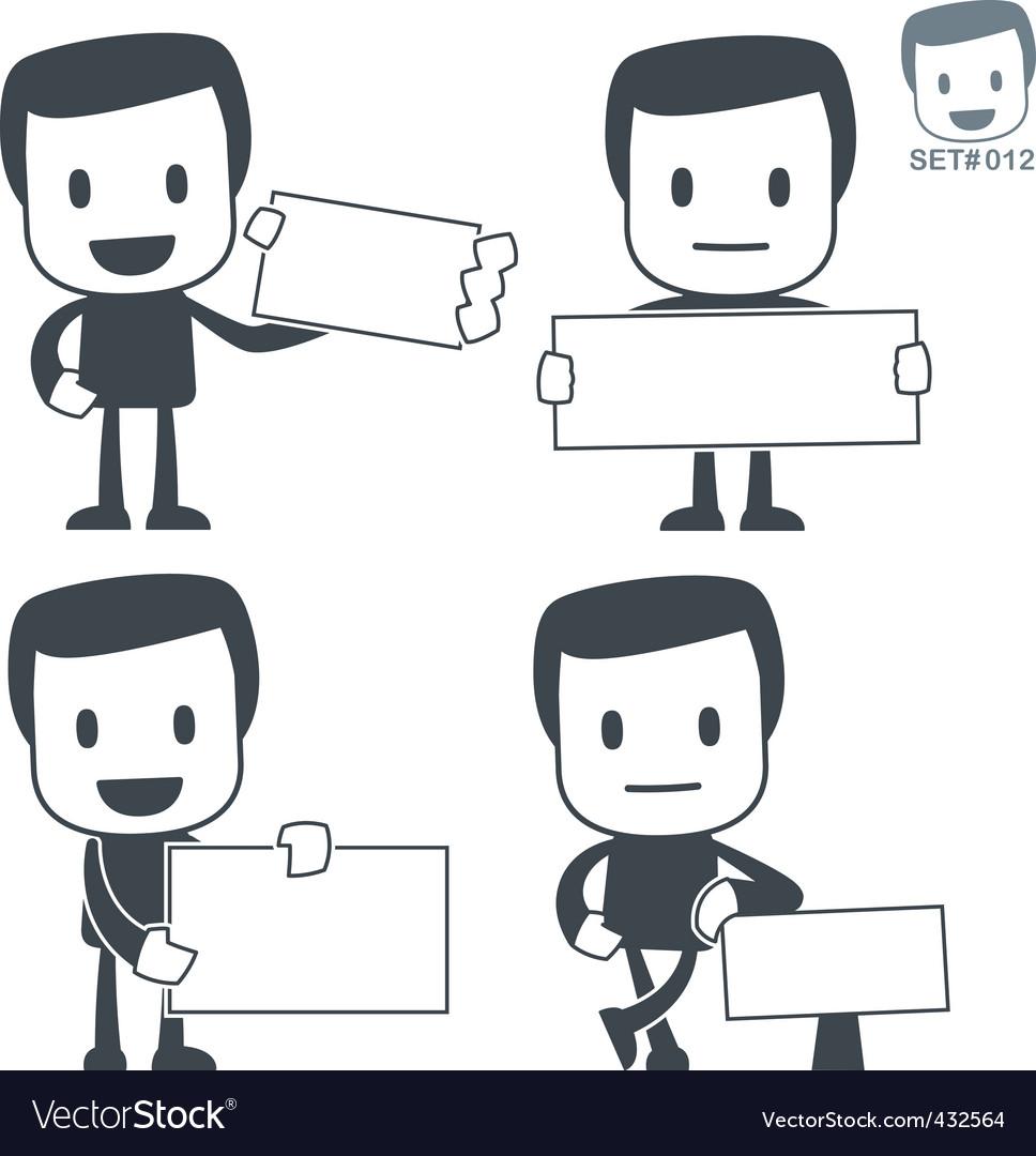 Cutaway icon man vector image