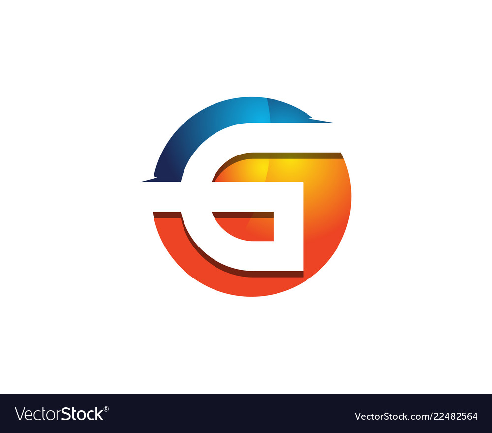 G 3d colorful circle letter logo icon design