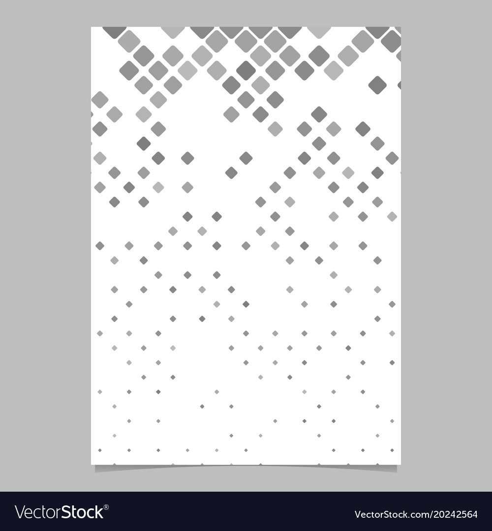 Geometric rounded square pattern poster