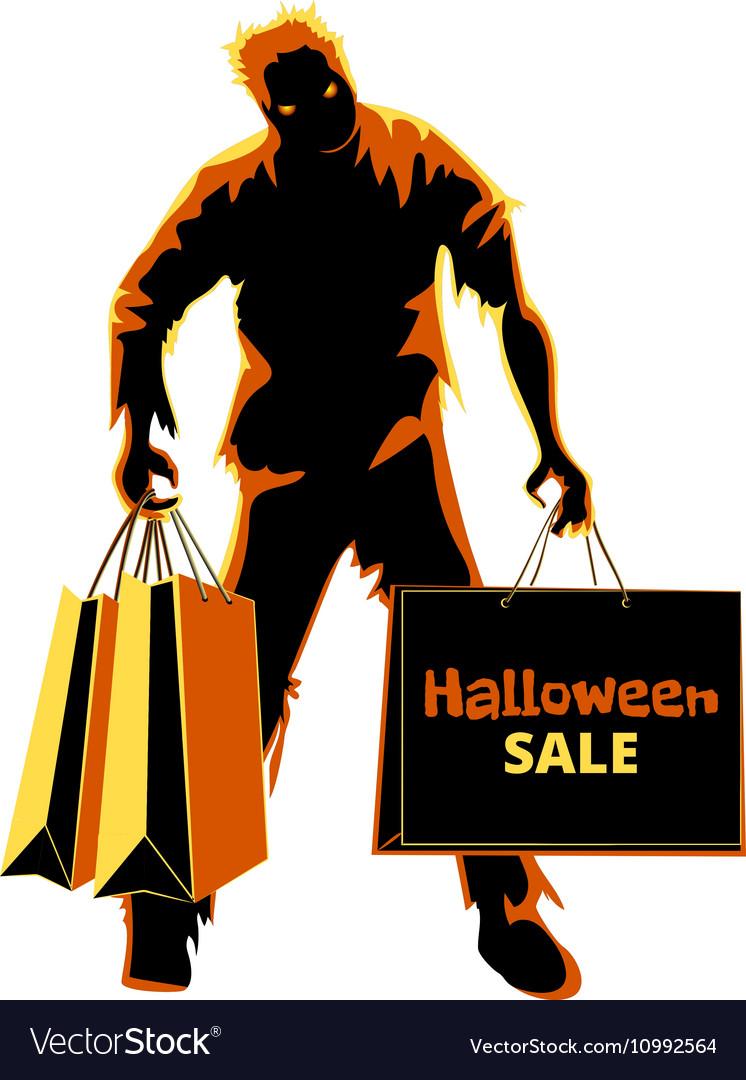 Halloween zombie shopper