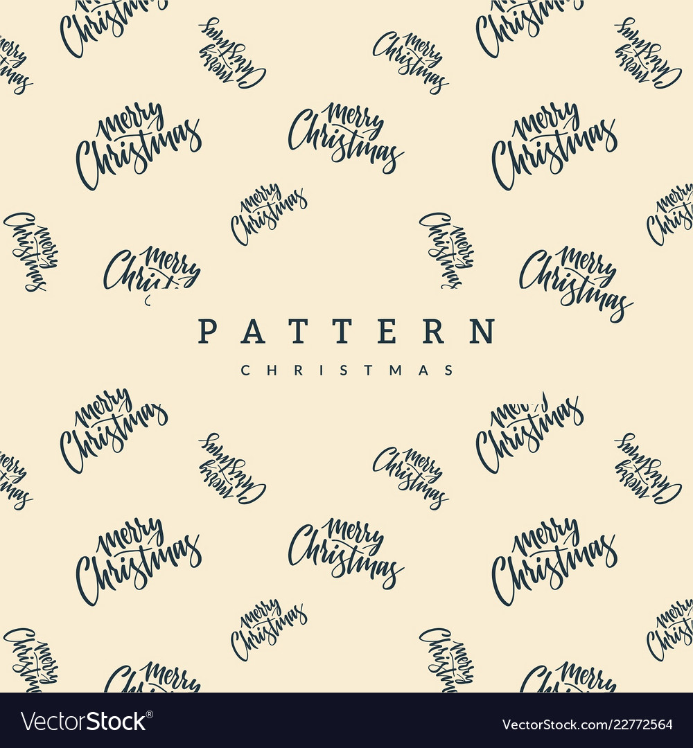 Merry christmas seamless patterns Royalty Free Vector Image