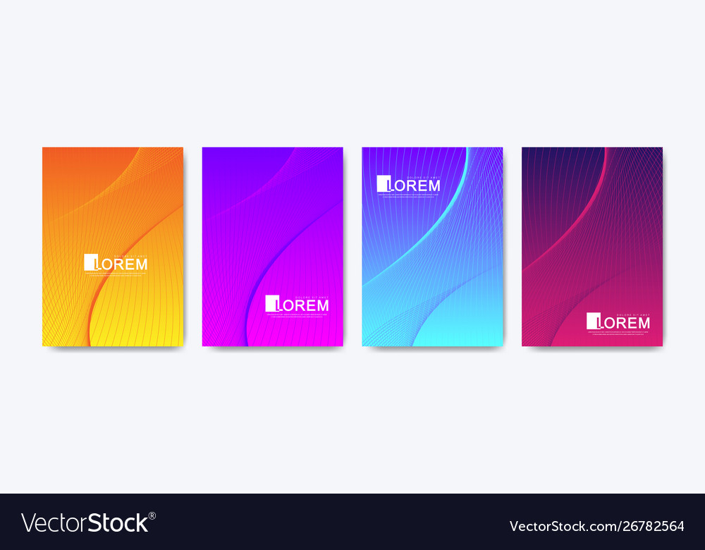 Modern colorful bright abstract gradient line