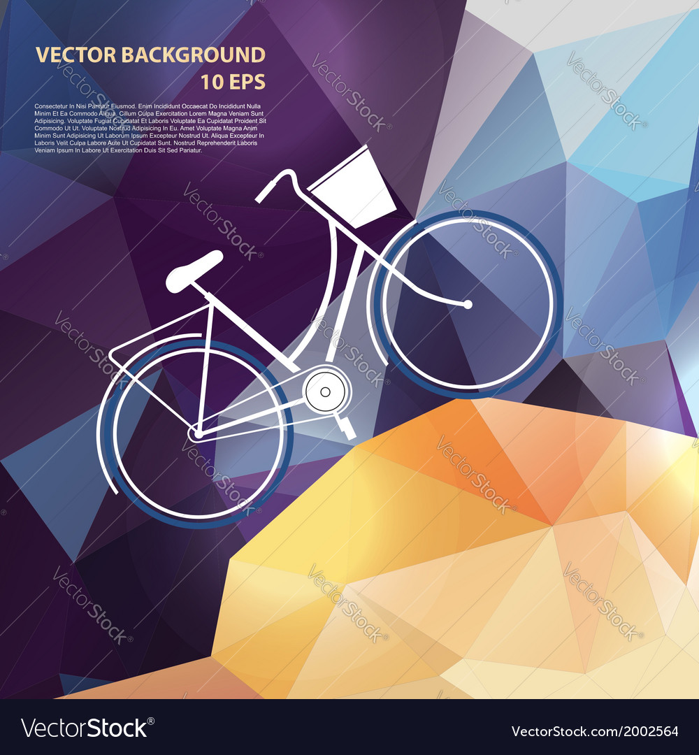 Summer poster with bicycle