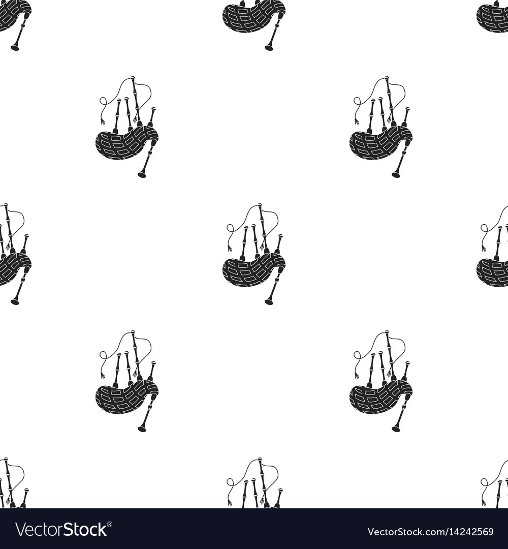 Bagpipes icon in black style isolated on white