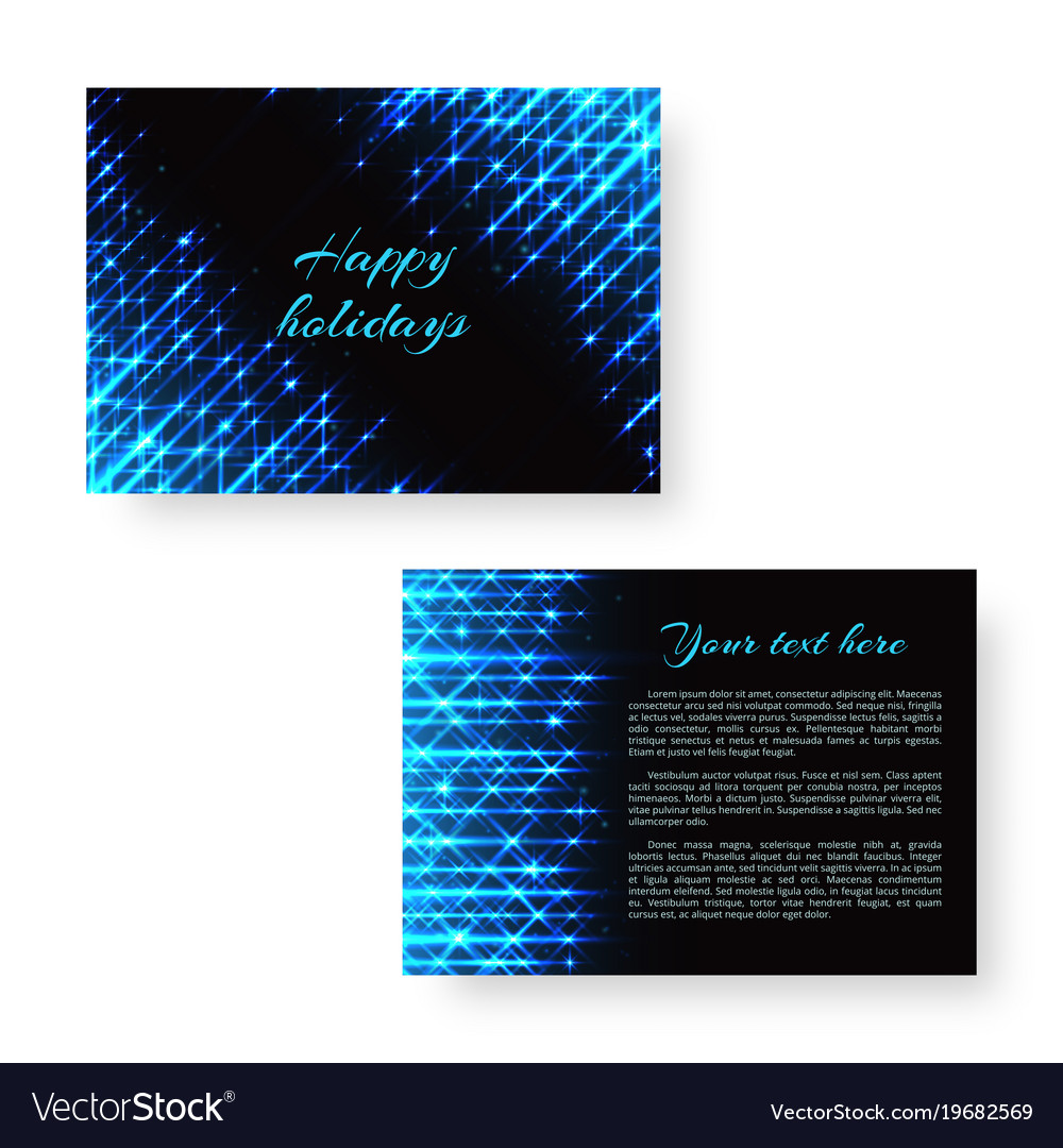 Bright greeting card with neon light