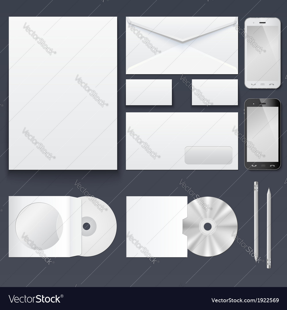 Blank Business Card Template | Corporate Identity Templates Blank Business Cards