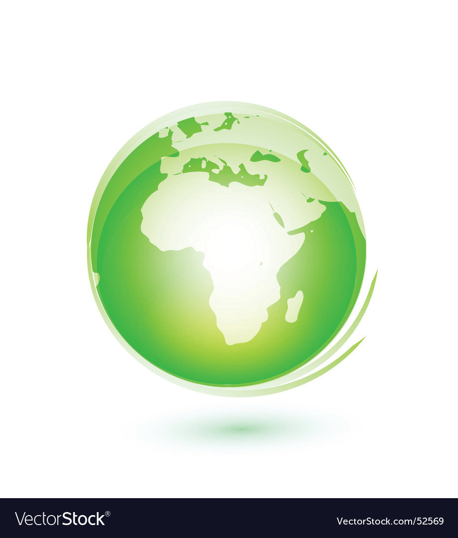 Earth green vector image