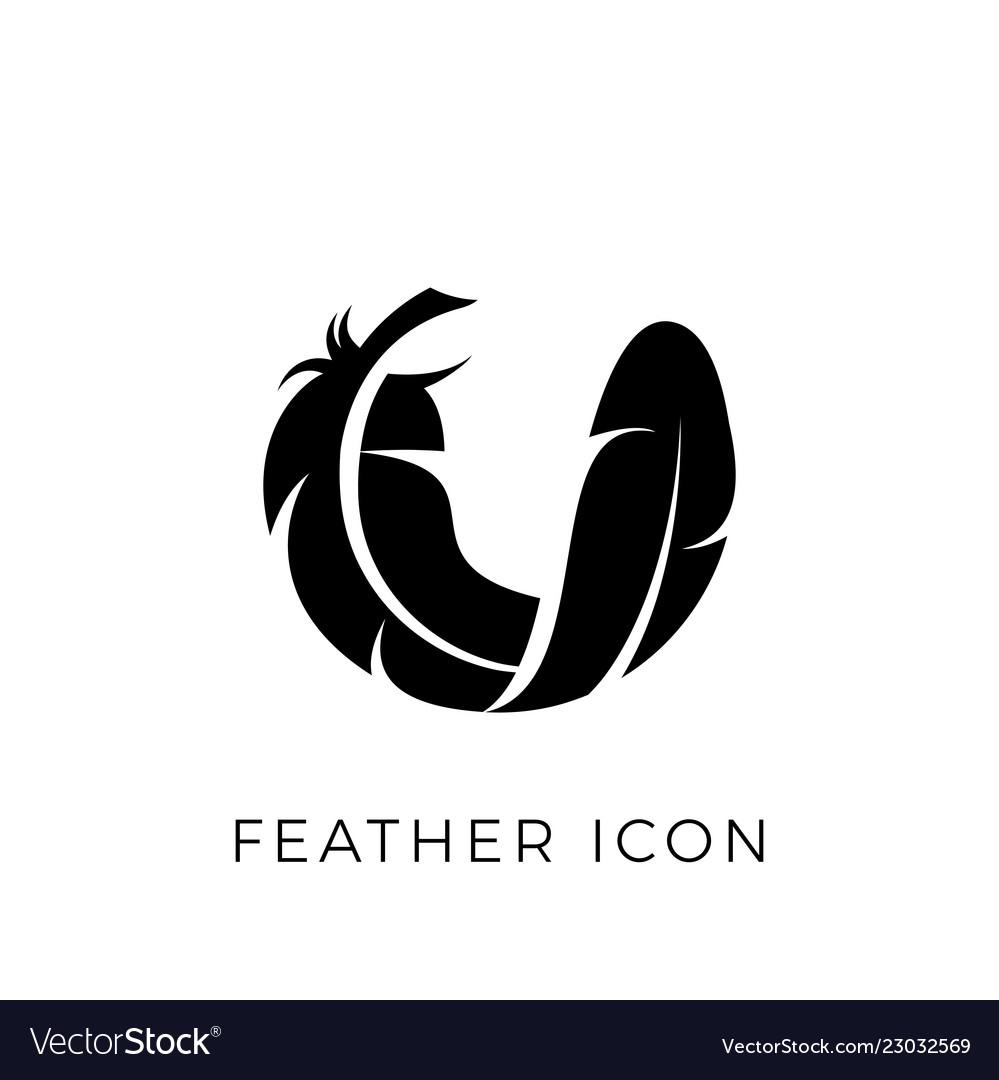 Feather logo icon template
