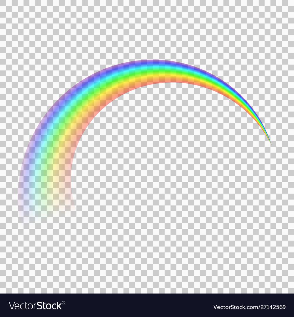 Rainbow isolated on transparent background