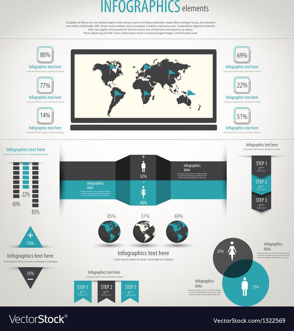 Retro infographics vector image