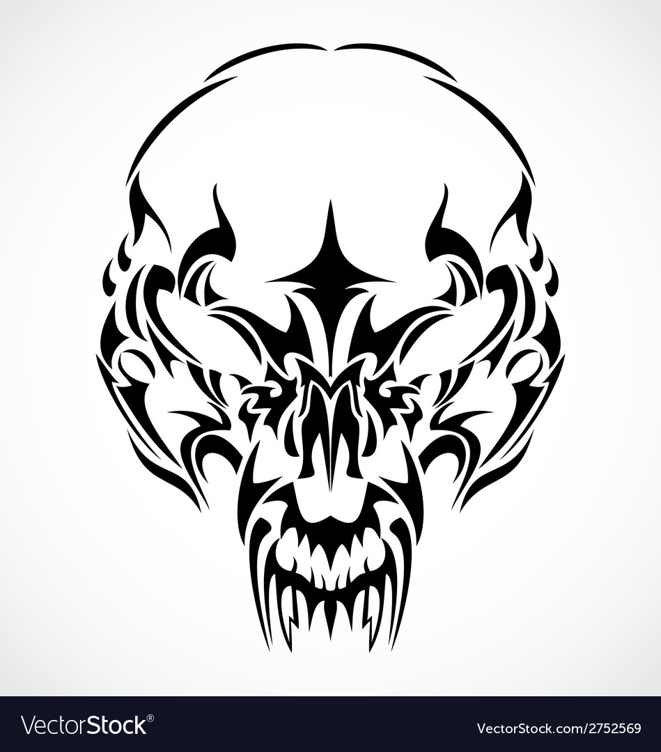 Tribal Scary Skulls vector image