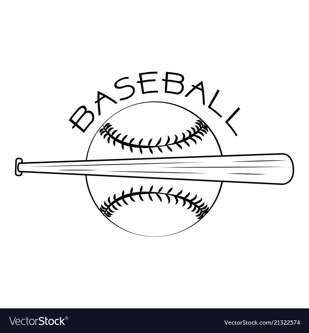 Abstract baseball label