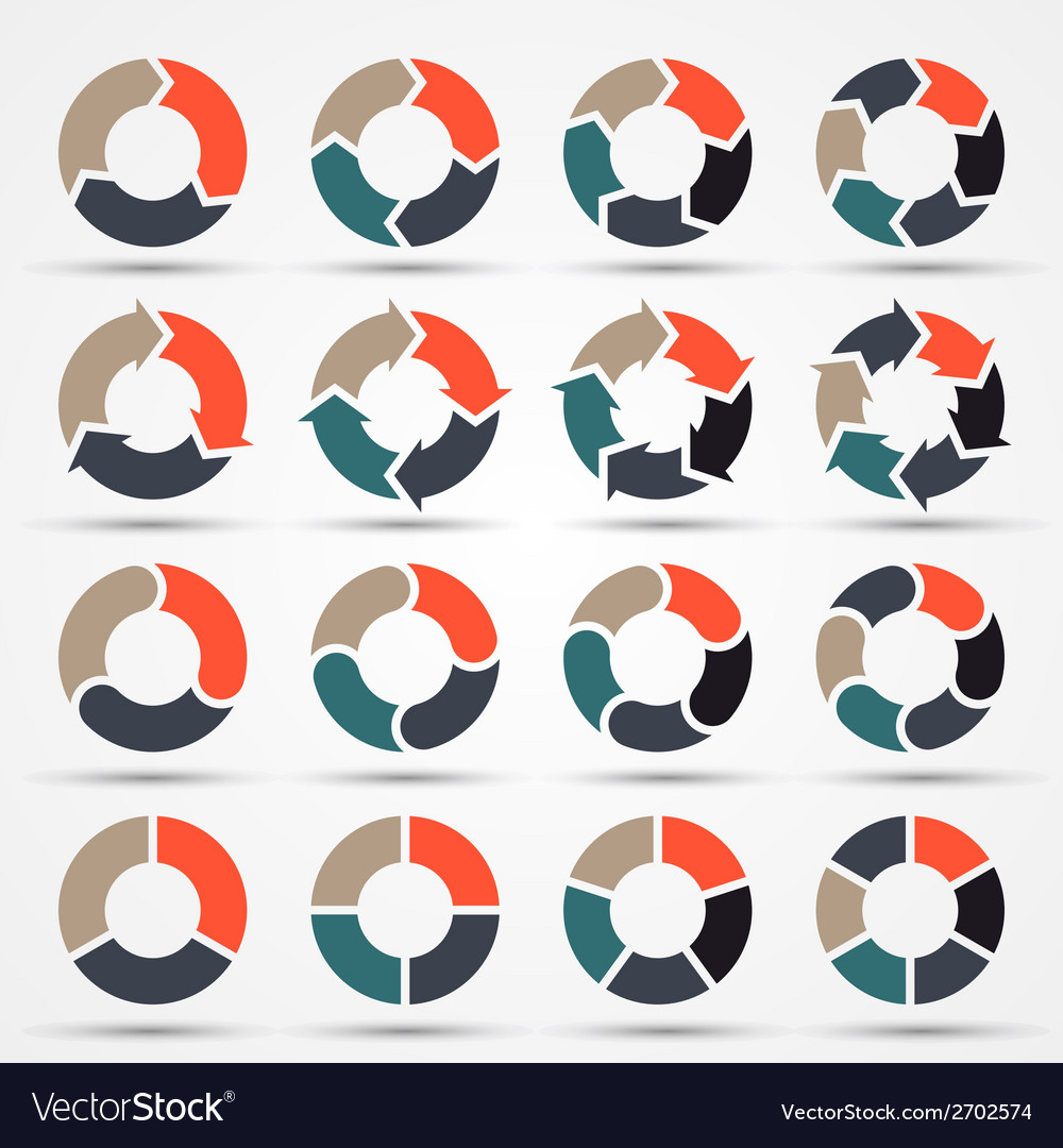 Circle arrows for business infographic diagram