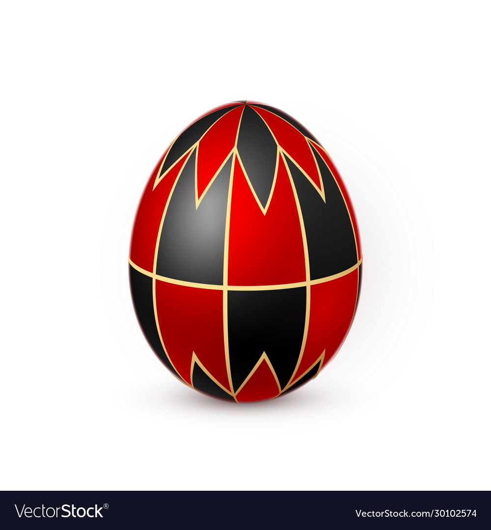 Color easter egg on white background design