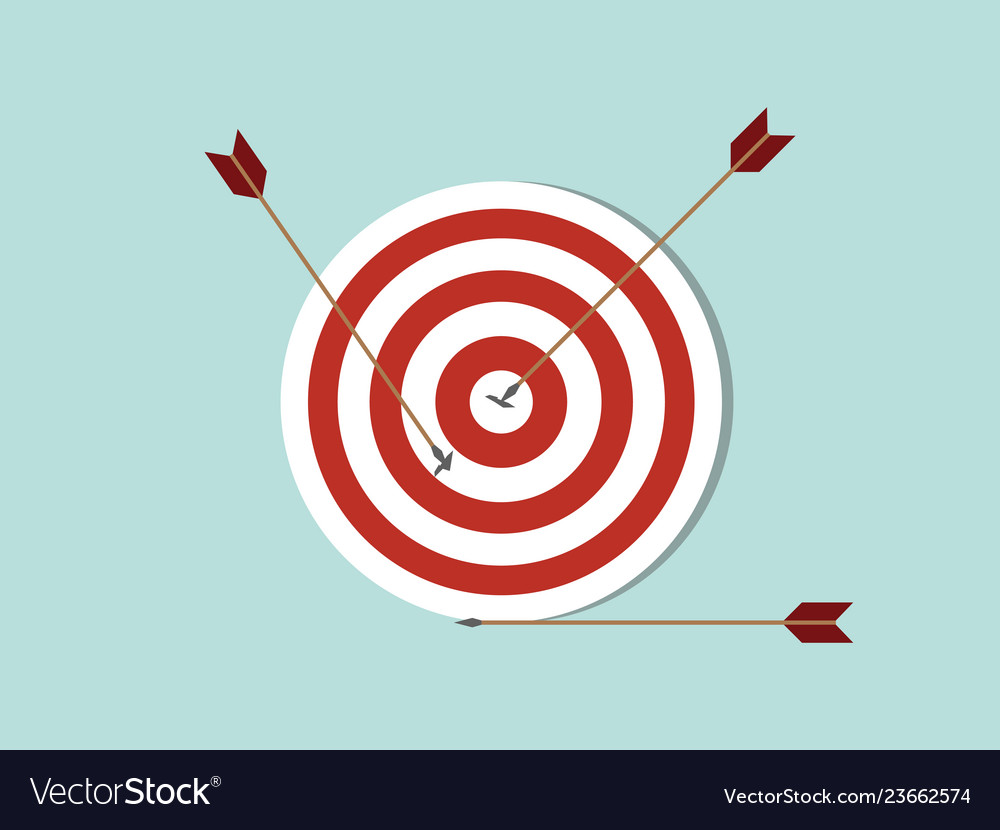 Dart goals target business concept icon with