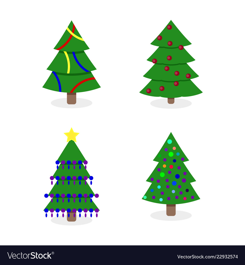 Decorated christmas tree collection