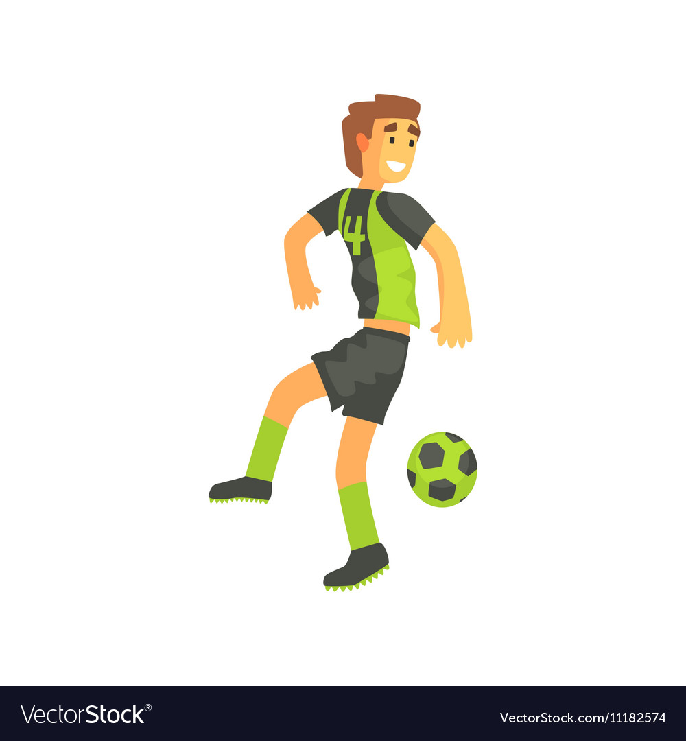 Football Player Flanking Isolated vector image