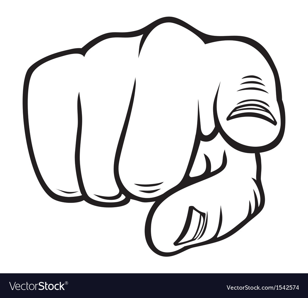 Hand pointing vector image